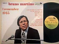 DISCO LP BRUNO MARTINO - I REMEMBER 1945 - 1978 OXFORD OX/3084 - EX/EX-