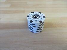 JACK DANIELS 10 white & black old #7  poker chips new  in roll