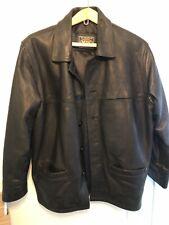 Mens Heavy Duty Leather Jacket Retro Med .. Biker Style Jacket