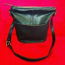 Vintage Made in the USA Leather Coach Shoulder Black 0060-031 Handbag