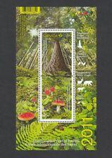 MUSHROOMS = FOREST FLOOR = Se-tenant pair Souvenir Sheet Canada 2011 #2461 MNH