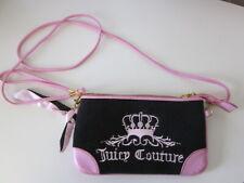 Women's JUICY COUTURE Purse Black Pink Crossbody Gold Toned Hardware Handbag Zip