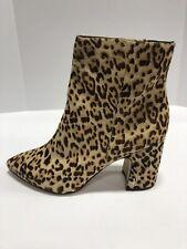 Sam Edelman Hilty Brown/Black Leopard Print High Heel Boots Women's Size 10 Wide