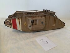 Modellbaupanzer Kettenfahrzeug gebaut und bemalt vermutlich 2. Weltkrieg