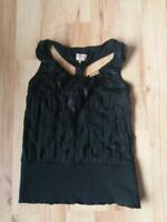 Khujo Damen  Shirt,Top/Bluse Gr.L eher M. schwarz elegant