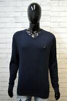 Tommy Hilfiger Maglione Uomo Taglia L Pullover Felpa Sweater Man Cardigan Cotone