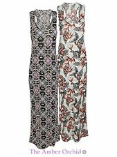 Viscose Scoop Neck Summer/Beach Maxi Dresses for Women