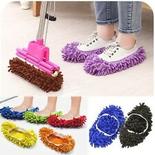 MICROFIBRE DUSTER SHOE SOCK SLIPPERS MOP DUST REMOVER CLEANING FLOOR POLISHERS