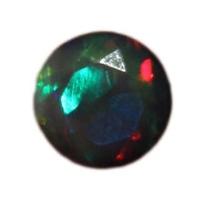 7 MM NATURAL ETHIOPIAN WELO BLACK OPAL FACETED CUT CALIBRATED GEMSTONE H2366