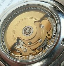 Very Clean 40 mm S/S Men's Croton 25 Jewel Swiss Automatic Diver's Watch Runs