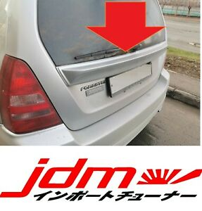 For Subaru Forester SG Rear Tail Gate Cover Garnish Middle Wing Spoiler 2002-05