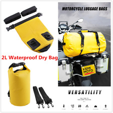 Motorcycle Outdoor PVC Waterproof Dry Sack Backpack Collapsible Storage Bag 2L