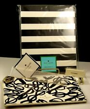 Kate Spade Spiral Notebook & Literary Glasses Pencil Pouch w/ Accessories NWT