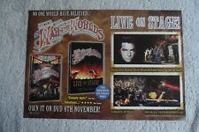 WAR OF THE WORLDS - LIVE ON STAGE - ADVERT 20.5 x 29.5cm.