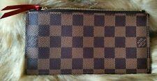 Authentic Louis Vuitton Damier Ebene Pochette Felicie Insert Zipper Pouch