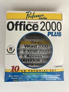 NEW Professor Teaches Microsoft Office 2000 Plus 10 CD Tutorial Set