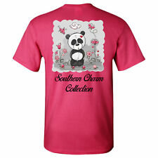 Cute Panda Southern Charm Collection on a Pink Short Sleeve T Shirt