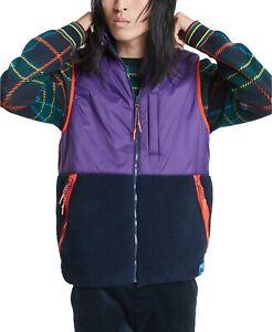 Tommy Hilfiger Men's Purple/Navy Dawson Reversible Full Zip Vest $169