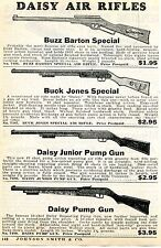 1936 Print Ad of Daisy Buzz Barton Buck Jones & Junior Pump Air Rifle BB Gun