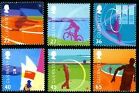 GUERNSEY 2003 ISLAND GAMES SET OF ALL 6 COMMEMORATIVE STAMPS MNH (j)