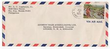 1971 PHILIPPINES Air Mail Cover SANTA ANA MANILA To LONDON SG1195
