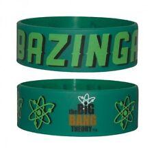 Gummi Armband The BIG BANG THEORY - Bazinga! Green ca65 x 24mm NEU Wristband