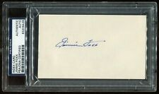 Jimmie Foxx Signed Index Card PSA/DNA Autograph