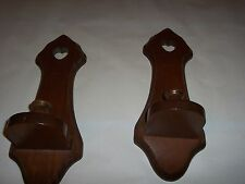 Wooden Heart Cut out Sconces for votive candles, tapers Vintage Home Interiors