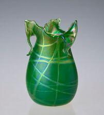 Hand Blown Art Glass Vase Iridescent Art Glass Vase Art Nouveau Art Vase