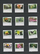 TONGA NIUAFO`OU 2013 Butterflies and Plants 12 v set MNH per scan