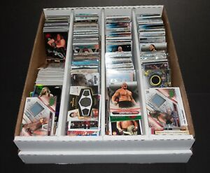 HUGE 1,000+ WWE WWF WRESTLING CARD COLLECTION RC PARALLEL HOF STAR INSERT LOT!!!