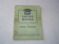 Ford tractor Ferguson system service manual