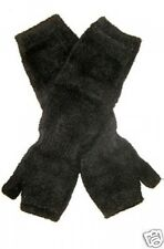 Chenille Microfiber Fingerless BLACK Gloves One Size NWT Warm Soft and Cozy NWT