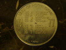 1977 NOTRE DAME SCHEDULE COIN PINCH WHISKY ADVERTISING