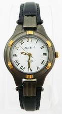 Eddie Bauer Women's White Dial Two-Tone Steel Black Strap Watch - CONVERTIBLE