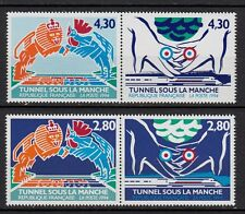 *Lot x4 Timbres Neuf**MNH**TBE (TUNNEL SOUS LA MANCHE 1994) ns°2880-2883