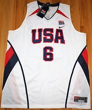 LEBRON JAMES #6 NIKE AUTHENTIC USA NATIONAL TEAM JERSEY XXL LENGTH +2 NEW NWT