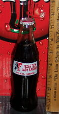 1993 TEXAS TECH LADY RAIDERS NCAA BASKETBALL CHAMPIONS 8 OZ COCA COLA  BOTTLE