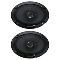 "Kenwood 6"" x 9"" 400W 3-Way Car Audio Flush Mount Coaxial Stereo Speakers, Pair"