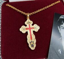 CAMROSE & KROSS JACQUELINE KENNEDY REVERSE RUSSIAN SAVE  PROTECT CROSS NECKLACE