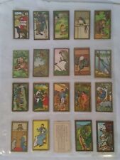 Series of 100 Cigarette Trading Cards Asian Images Contained In Plastic Sleeves