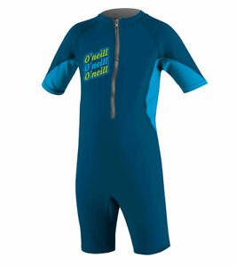 O'Neill Infant O'Zone UV Sun Suit | Deep Sea/Lime | Sizes 12, 18months