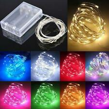 20/30/40/50100 LED Battery Micro Rice Wire Copper Fairy Lights String Party M2O3