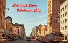 OK 1960's Main Street looking west in Downtown at Oklahoma City, Okla.