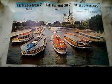 PARIS DEPLIANT TOURISTIQUE BATEAUX MOUCHES ET 4 BILLETS 1995