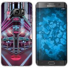 Case für Samsung Galaxy S7 Edge Silikon-Hülle Retro Wave Cyberpunk.02 M5 Case