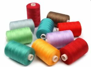 Nähgarn Polyester 1000 Meter 40/2 1 Rolle Nähmaschinengarn 50 Farben