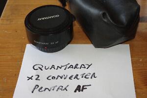 Quantaray 2X AF x2 Autofocus Teleconverter for Pentax KAF Lenses - VGC