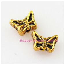 40Pcs Antiqued Gold Tiny Animal Butterfly Spacer Beads Charms 5x7mm