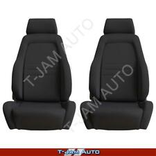 Adventurer 4x4 4WD Bucket Seat Pair 2 x Black Cloth ADR Approved Toyota Hilux